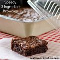 Brownies με 3 υλικά!!!!