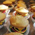Cupcakes Hamburger- βήμα βήμα!!!!!!!!!!!!!!!!